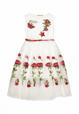 Платье Noble People. Цвет: белый