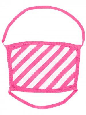 Полосатая маска для лица Off-White. Цвет: розовый