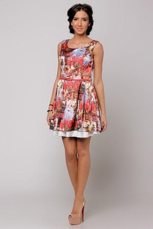 Платье Cocogio. Цвет: мультицвет
