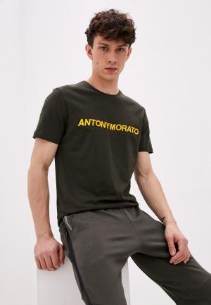 Футболка Antony Morato. Цвет: хаки