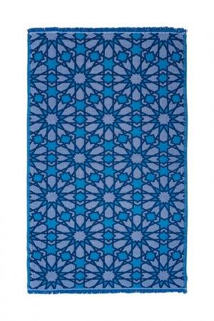 Пляжное полотенце Begonville. Цвет: синий, белый, бирюзовый