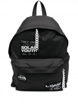 Рюкзак с нашивкой Eastpak x Raf Simons. Цвет: черный
