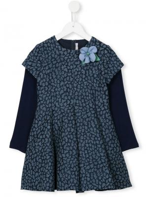 Платье с цветочной аппликацией Loredana