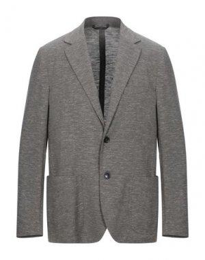 Пиджак HEVÒ. Цвет: голубиный серый