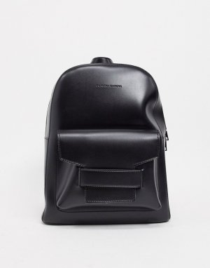 Черный рюкзак с карманом-конвертом Claudia Canova