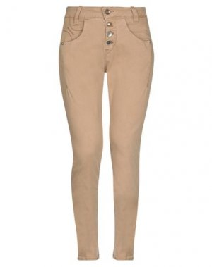 Джинсовые брюки FORNARINA. Цвет: верблюжий