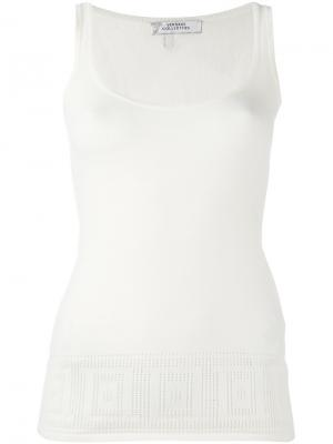 Базовая майка Versace Collection. Цвет: белый