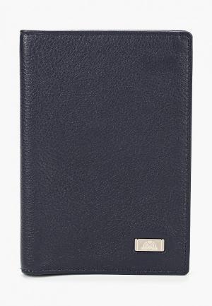 Обложка для паспорта Tony Perotti. Цвет: синий