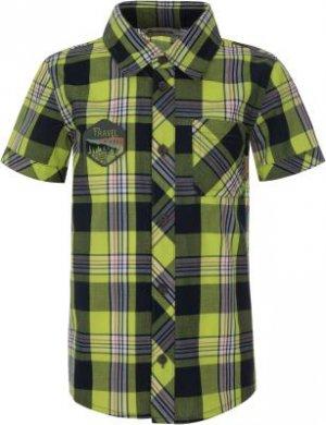 Рубашка с коротким рукавом для мальчиков , размер 104 Outventure. Цвет: зеленый