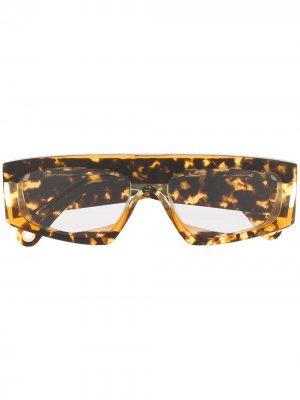 Солнцезащитные очки Les lunettes Yauco Jacquemus. Цвет: коричневый