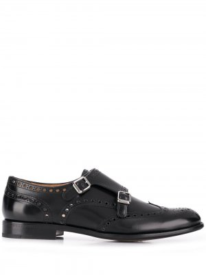 Churchs туфли монки с брогированием Church's. Цвет: черный