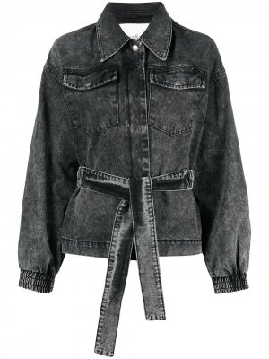 Джинсовая куртка Jacky с поясом Ba&Sh. Цвет: черный