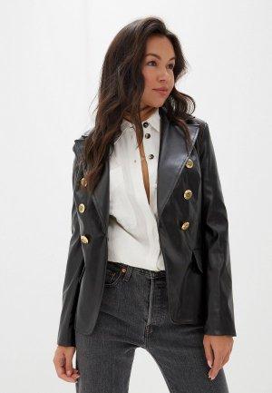 Куртка кожаная Gold Chic Chili. Цвет: черный