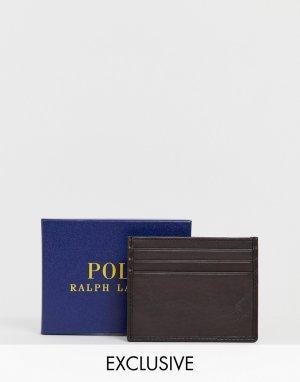 Коричневая кожаная визитница эксклюзивно для ASOS-Коричневый Polo Ralph Lauren