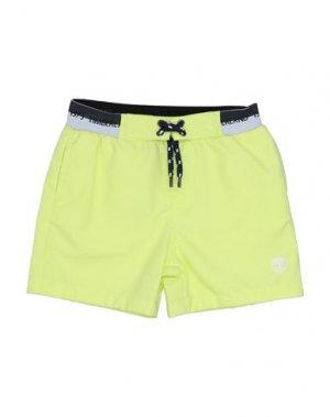 Пляжные брюки и шорты TIMBERLAND. Цвет: кислотно-зеленый