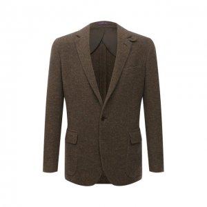 Пиджак из кашемира и шерсти Ralph Lauren. Цвет: зелёный