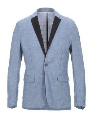 Пиджак PAOLO PECORA. Цвет: синий