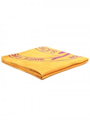 Полотенце с логотипом Stussy. Цвет: оранжевый