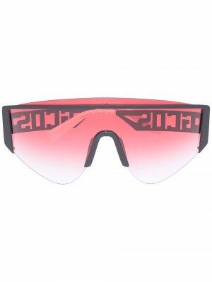 Массивные солнцезащитные очки Gcds. Цвет: красный