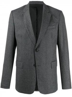 Однобортный пиджак AMI Paris. Цвет: серый