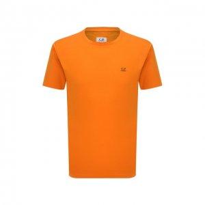 Хлопковая футболка C.P. Company. Цвет: оранжевый