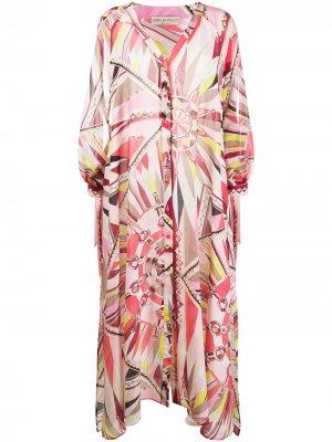 Пляжное платье Bes с принтом Emilio Pucci. Цвет: разноцветный