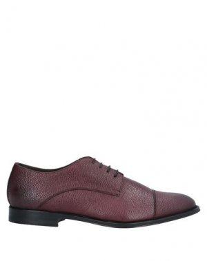 Обувь на шнурках CASTORI. Цвет: баклажанный