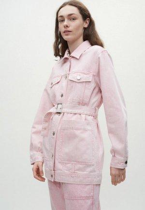 Куртка джинсовая Claudie Pierlot. Цвет: розовый