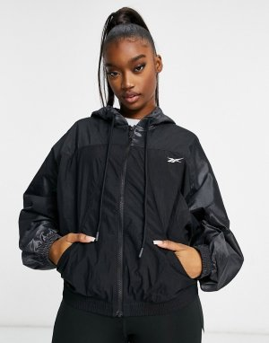 Тканая спортивная куртка черного цвета Training-Черный цвет Reebok