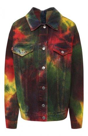 Джинсовая куртка MSGM. Цвет: разноцветный