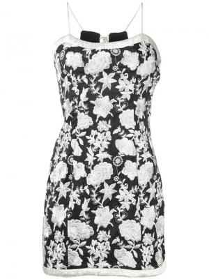 Платье с цветочной вышивкой Alexis