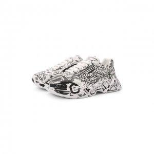 Кожаные кроссовки Daymaster Dolce & Gabbana. Цвет: белый