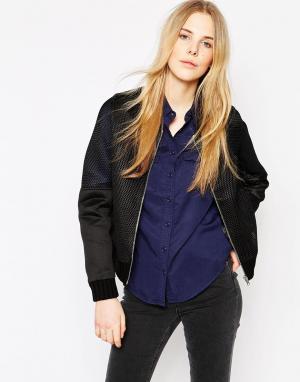 Куртка-пилот Vila. Цвет: черный