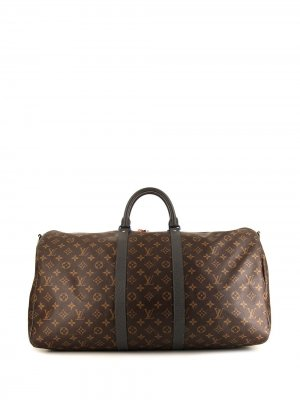 Сумка Keepall 55 pre-owned из коллаборации с Kim Jones Louis Vuitton. Цвет: коричневый