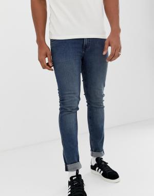 Облегающие джинсы стального синего цвета -Синий Cheap Monday
