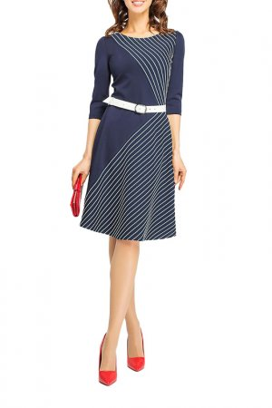Платье Giulia Rossi. Цвет: синий, белый