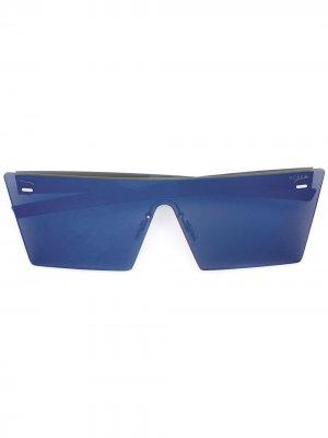 Зеркальные солнцезащитные очки с квадратной оправой Retrosuperfuture. Цвет: синий