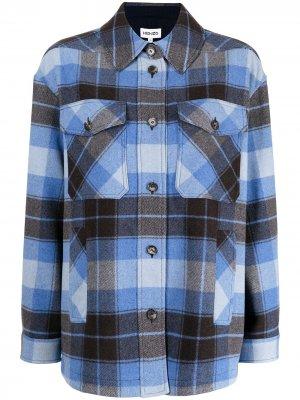 Рубашка в клетку Kenzo. Цвет: синий