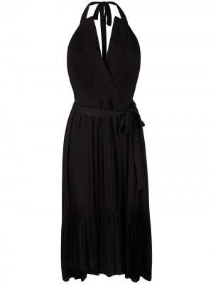 Платье миди с вырезом халтер IRO. Цвет: черный