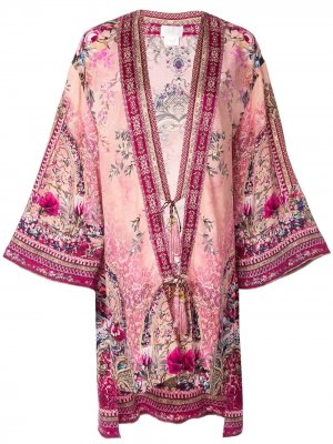 Пиджак-кимоно с цветочным узором Camilla