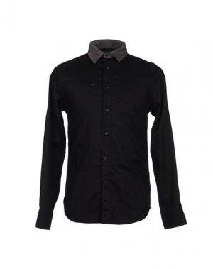 Рубашка с длинными рукавами GUESS. Цвет: черный