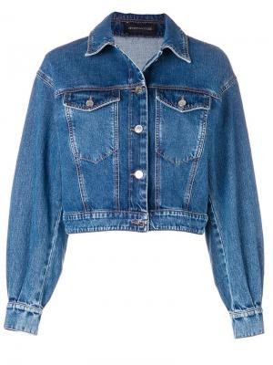 Укороченная джинсовая куртка Sport Max Code. Цвет: синий