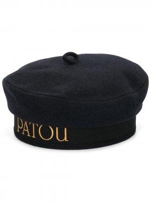 Берет с логотипом Patou. Цвет: синий
