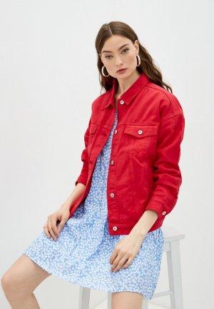 Куртка джинсовая Befree Exclusive online. Цвет: красный