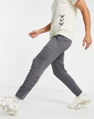 Серые брюки суженного кроя Isam-Серый Hummel