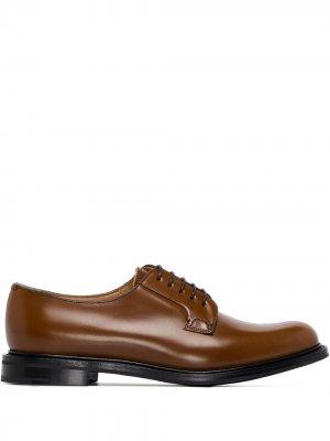 Churchs туфли на шнуровке Church's. Цвет: коричневый