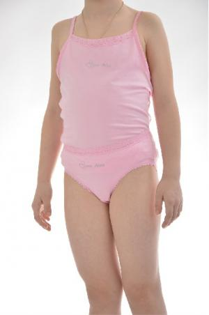 Комплект: майка и трусы Arina BALLERINA. Цвет: розовый