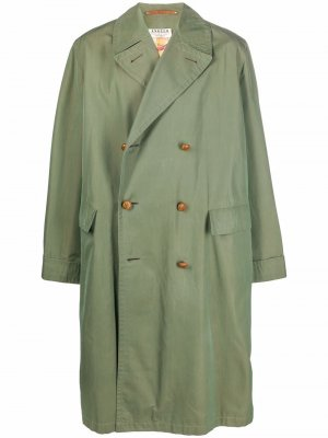 1950s iridescent-effect double-breasted trench coat A.N.G.E.L.O. Vintage Cult. Цвет: зеленый