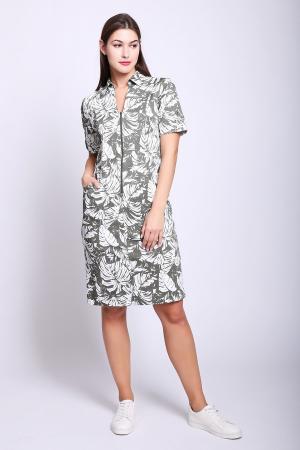 Платье Frank Walder. Цвет: зелёный