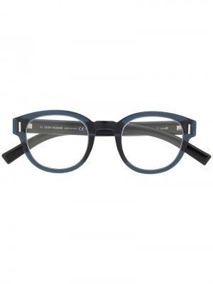 Очки Fraction в круглой оправе Dior Eyewear. Цвет: синий